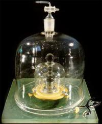 The official kilogram. Credit: BIPM