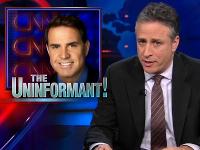 Jon Stewart - Rick Sanchez -  'Nine Meters In English Is?'